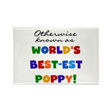 Otherwise Known Best Poppy Rectangle Magnet (100 p