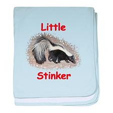 Little Stinker (Baby Skunk) baby blanket