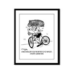 Excessive Bike Accessories Framed Panel Print