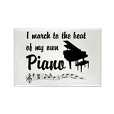 March to the Beat: Piano Rectangle Magnet