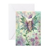 Mystic Garden Flower Fairy Art Greeting Card