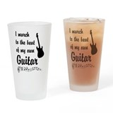 March to the Beat: Guitar Drinking Glass