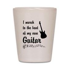 March to the Beat: Guitar Shot Glass