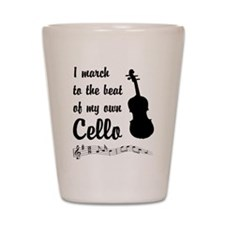 March to the Beat: Cello Shot Glass