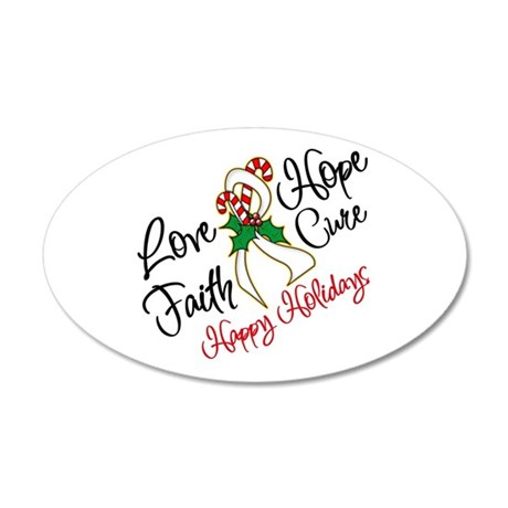 Holiday Hope Lung Cancer 38.5 x 24.5 Oval Wall Pee