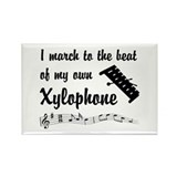 March to the Beat: Xylophone Rectangle Magnet