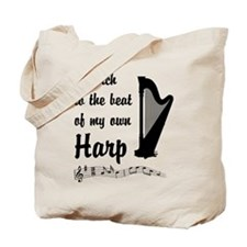 March to the Beat: Harp Tote Bag