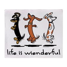 Life Is Wienderful Throw Blanket