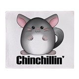 Chinchillin' Throw Blanket