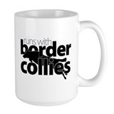 Runs With Border Collies (sm) Mug