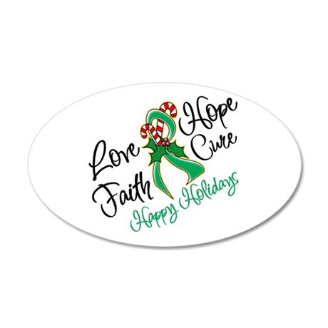 Holiday Hope Liver Cancer 38.5 x 24.5 Oval Wall Pe