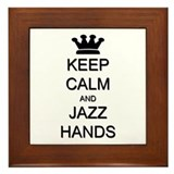 Keep Calm Jazz Hands Framed Tile