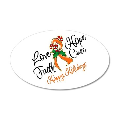 Holiday Hope Leukemia 38.5 x 24.5 Oval Wall Peel