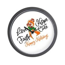 Holiday Hope Leukemia Wall Clock