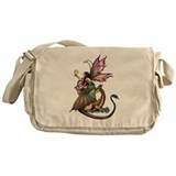 Dragon's Orbs Fairy and Dragon Art Messenger Bag
