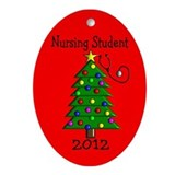 Nursing School Ornament (Oval)