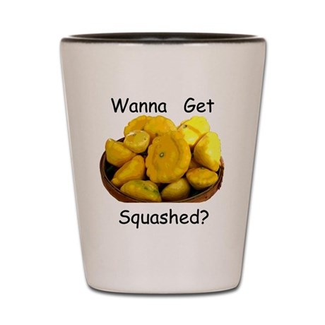 Get Squashed Shot Glass
