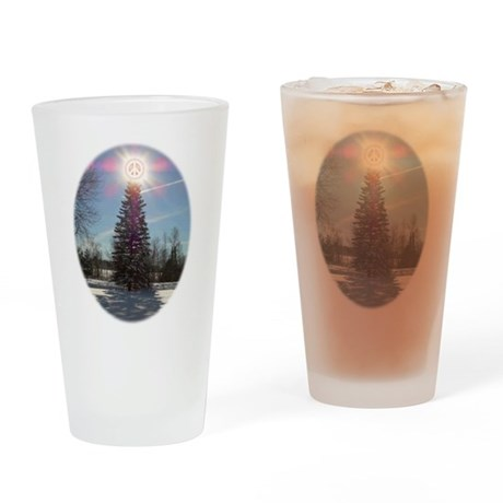 Christmas Peace Drinking Glass