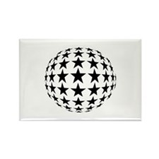 Stars Mirror Ball Rectangle Magnet