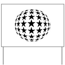 Stars Mirror Ball Yard Sign