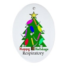 Respiratory Therapy XXX Ornament (Oval)