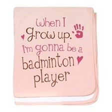 Kids Future Badminton Player baby blanket