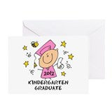 Cute Girl Kindergarten Grad 2012 Greeting Card