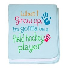 Kids Future Field Hockey Player baby blanket