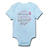 Kids Future Field Hockey Player Infant Bodysuit