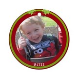 Customizable Photo Ornament Ornament (Round)