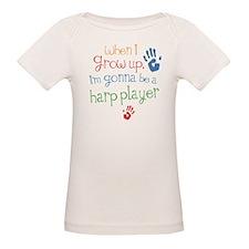 Kids Future Harp Player Organic Baby T-Shirt