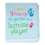 Kids Future Lacrosse Player baby blanket
