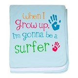 Kids Future Surfer baby blanket