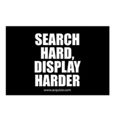 Search Hard Display Harder Postcards (Package of 8