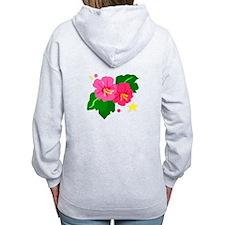 Tropical Flowers Zip Hoody
