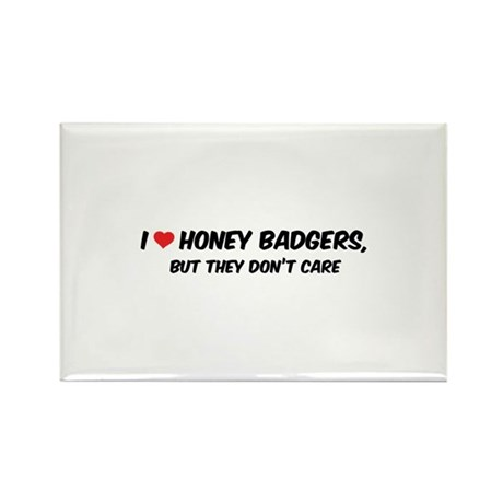 I Love Honey Badgers Rectangle Magnet