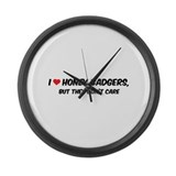 I Love Honey Badgers Large Wall Clock