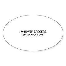 I Love Honey Badgers Decal