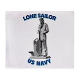 Navy - Lone Sailor - 3D Throw Blanket