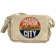 Baltimore Vintage Label Messenger Bag