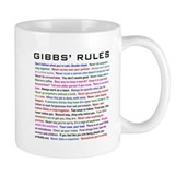 NCIS Gibbs' Rules Coffee Mug