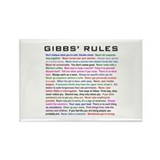 NCIS Gibbs' Rules Rectangle Magnet