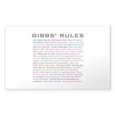 NCIS Gibbs' Rules Decal