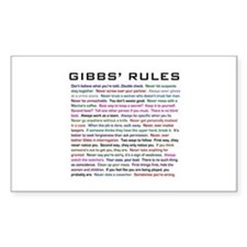 NCIS Gibbs' Rules Stickers
