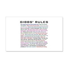 NCIS Gibbs' Rules 22x14 Wall Peel
