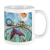 Colorful Mermaid Fantasy Art Coffee Mug