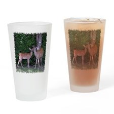 Doe and lamb Drinking Glass