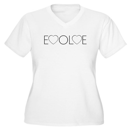 Evolve Love Women's Plus Size V-Neck T-Shirt