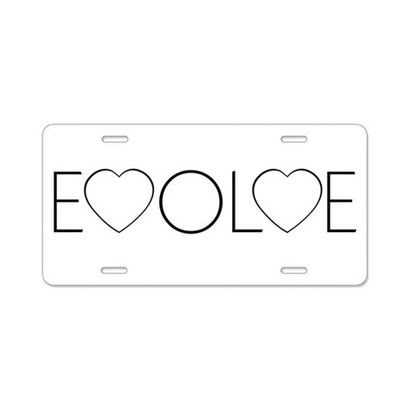 Evolve Love Aluminum License Plate