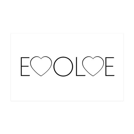 Evolve Love 38.5x24.5 Wall Peel